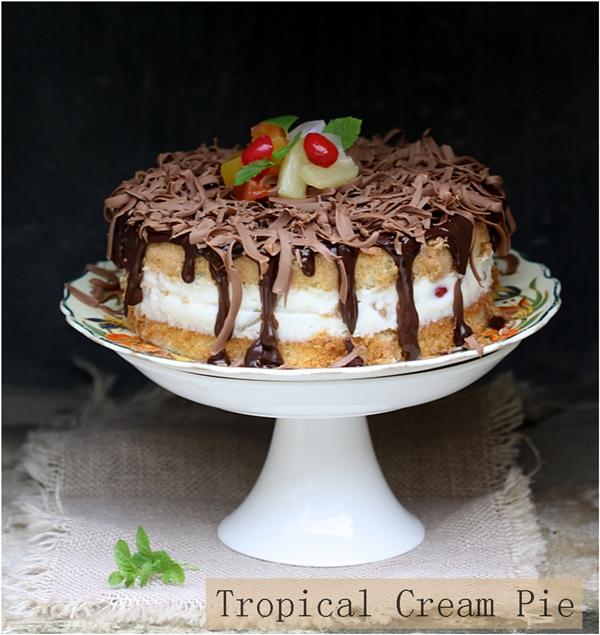 Baking   Tropical Cream Pie … The Boston Cream Pie just got a tropical makeover!