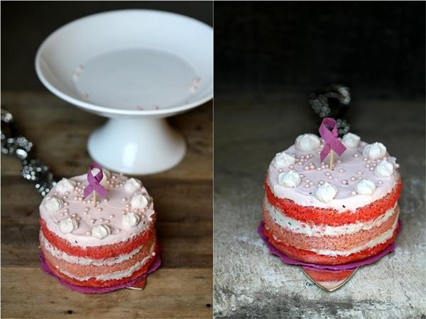 Almond Raspberry Quark Layered Cake