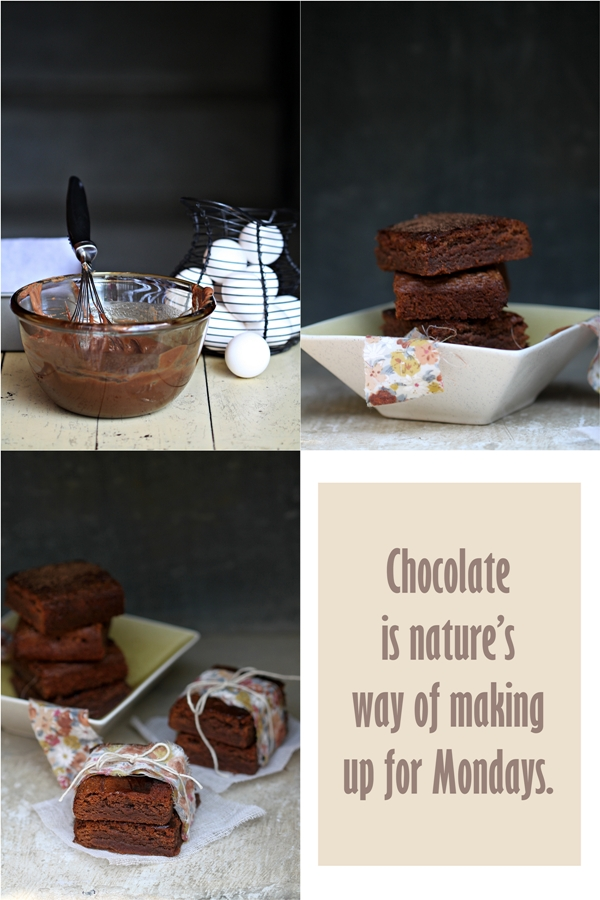 Milk Chocolate Brownies, Baking for Friends