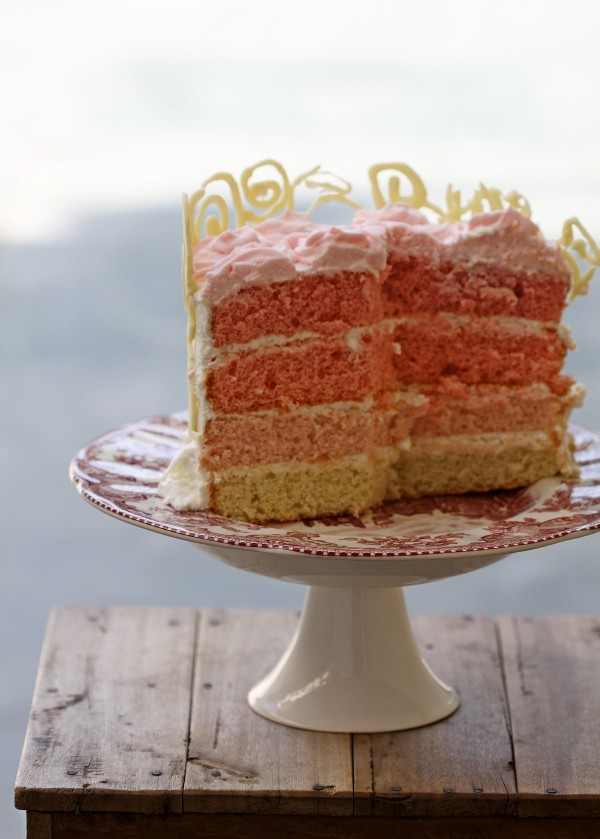 Ombre ... Almond Layered Cream Cake 3