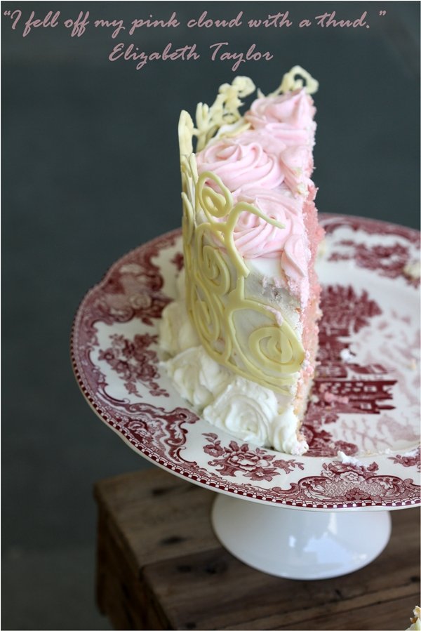 Ombre ... Almond Layered Cream Cake