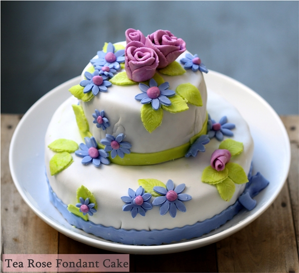 Baking | Tea Rose Fondant Cake … and a floral giveaway #serenataflowers