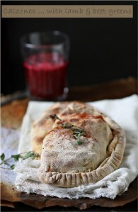 Calzones with lamb & beet greens
