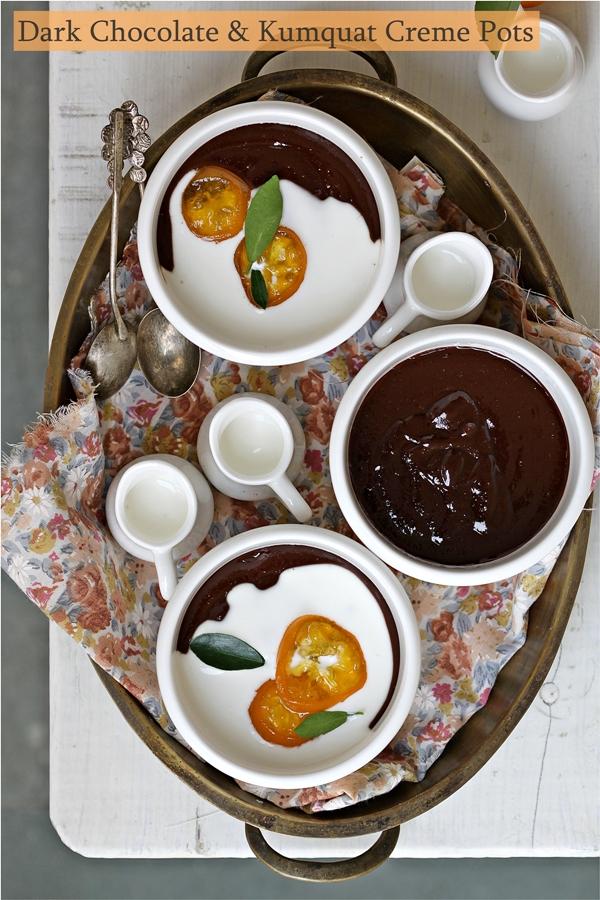 No bake   Dark Chocolate & Kumquat Creme Pots … In Season with Kumquats