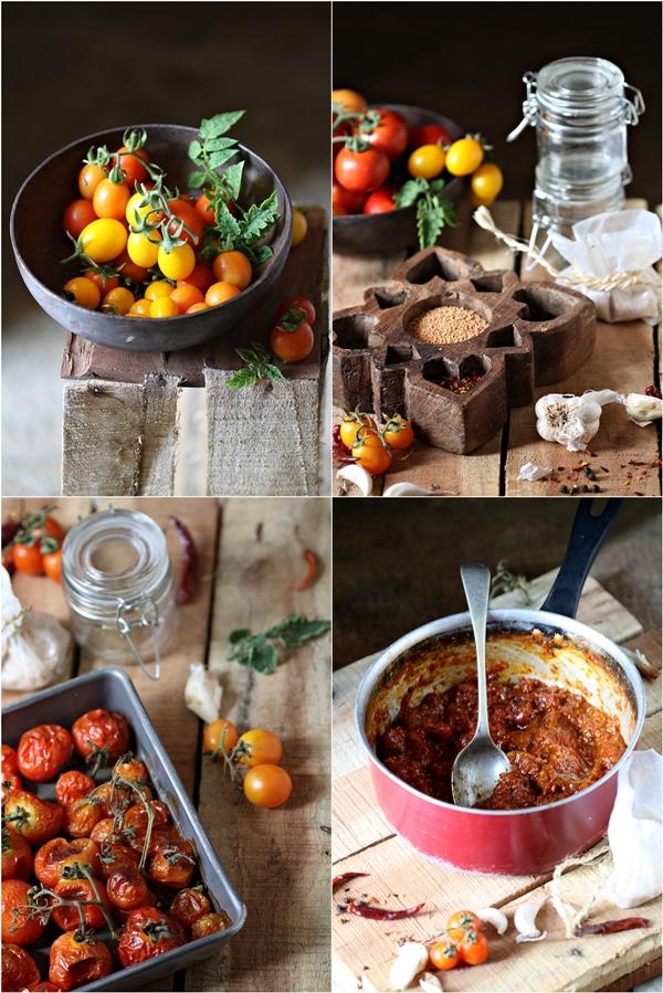 Spicy vine tomato relish
