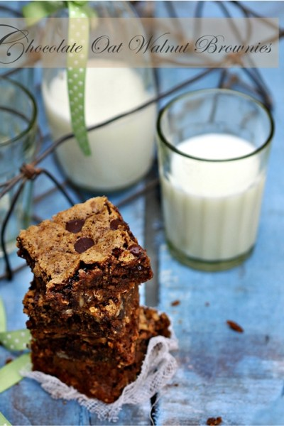 Baking | Chocolate Oat Walnut Brownies … Baking and other activities for the family this summer