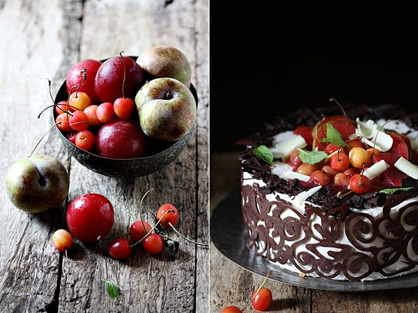 Stone Fruit & Quark Cream Layered Cake