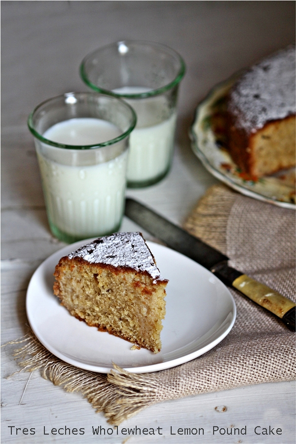 Tres Leches Wholewheat Lemon Pound Cake