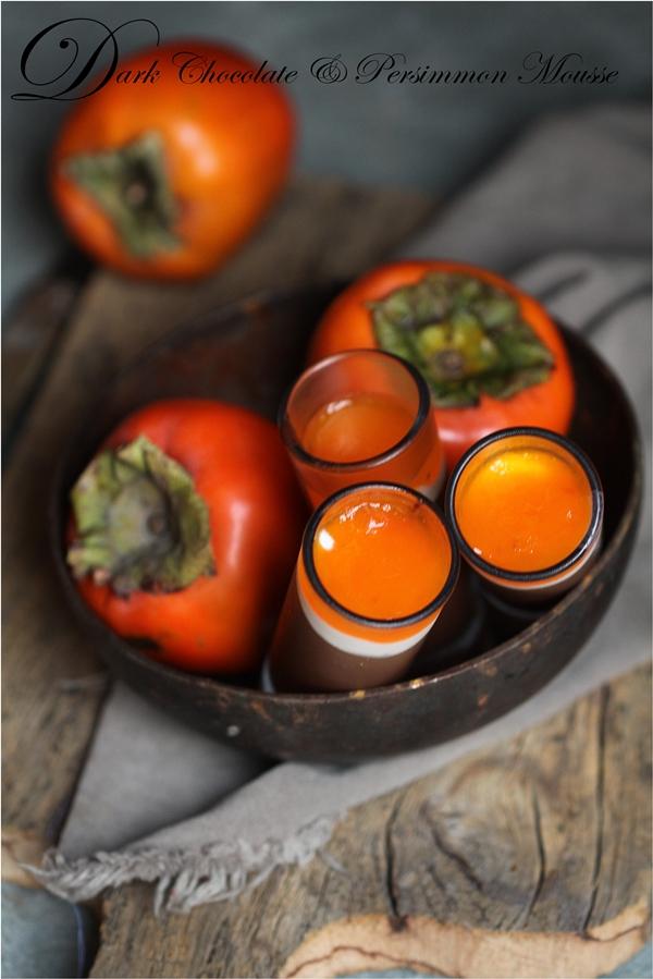 No bake   Dark Chocolate & Persimmon Mousse  #vegetarian #fall #dessert #orange