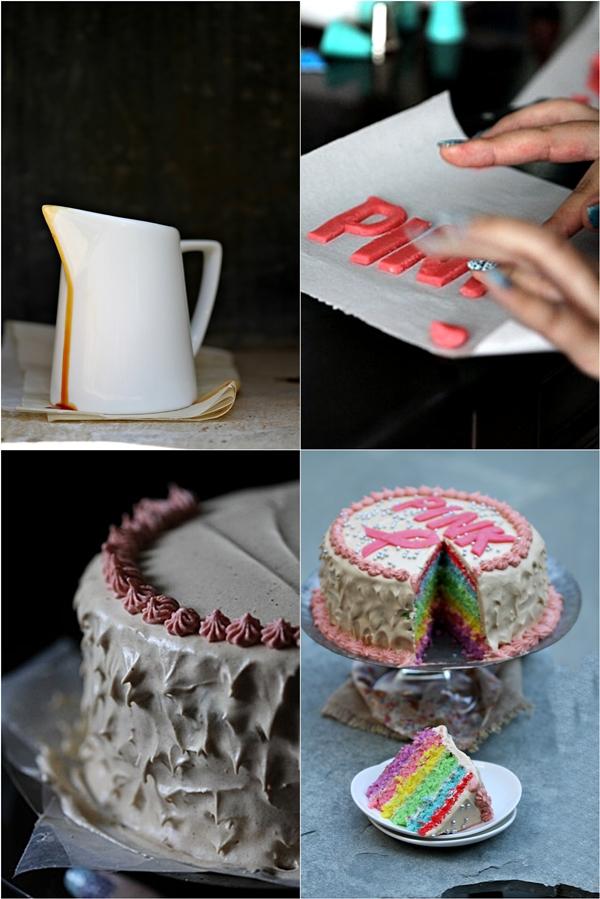 Rainbow Cake for Pinktober