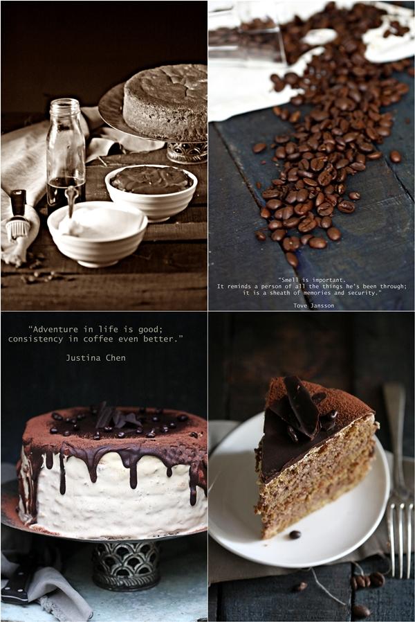 Coffee Chocolate Mascarpone Layered Cake