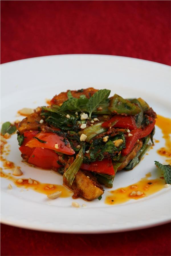Eggplant & Bok Choy in Sambal, Vicky Goes Veg