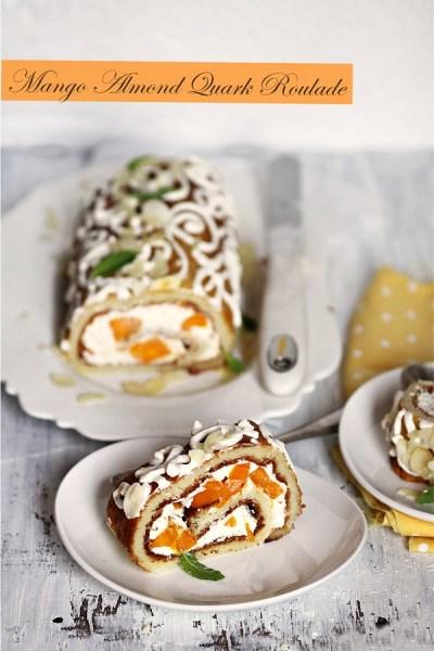 Baking | GF Mango Almond Quark Roulade … & a Rs 6000 giveaway #inseason #mangoes #glutenfree #dessert #flipkart