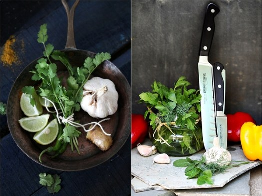 herbs and peppers