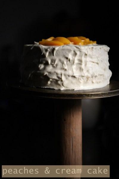 Baking | Peaches & Cream Cake … light summer cake. Trifles too #stonefruitlove #dessert # cake #summer