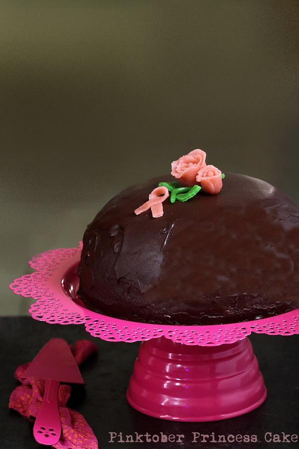 Pinktober Princess Cake,  Prinsesstårta