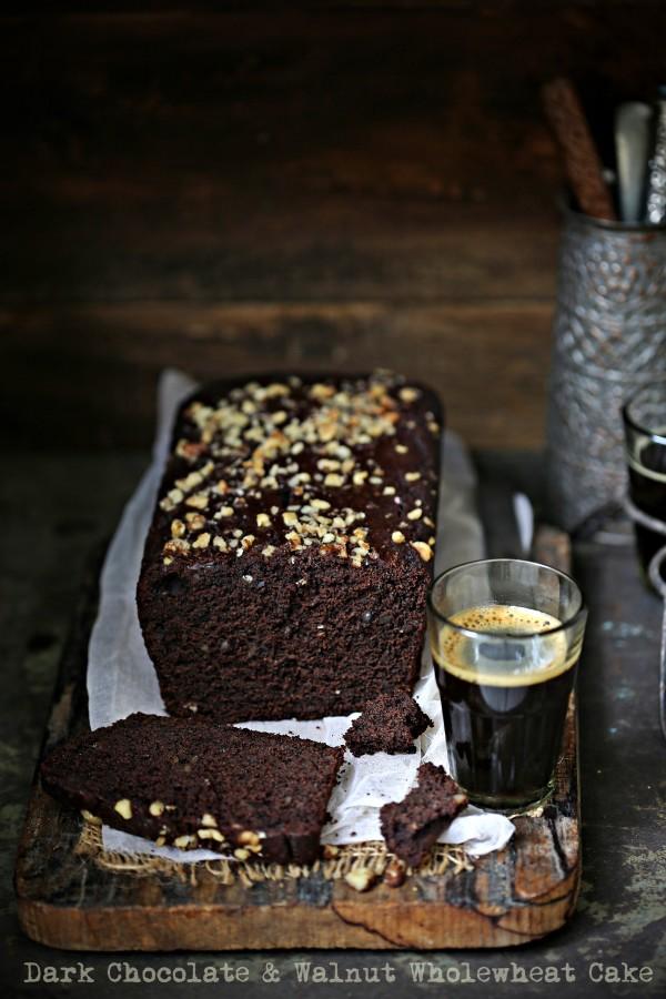 Dark Chocolate & Walnut Wholewheat Cake