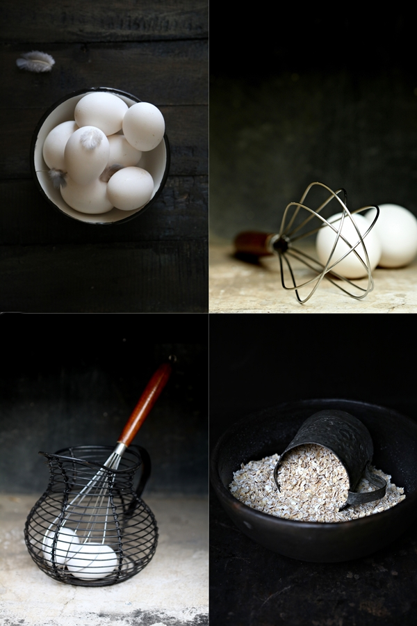 Baking, eggs, oats