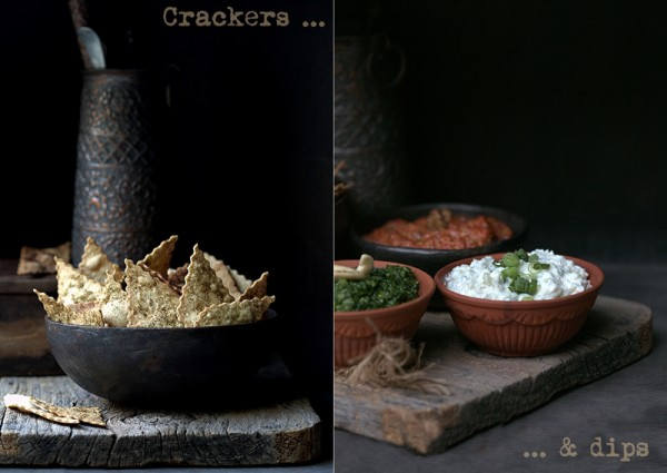 Wholegrain Olive Oil Crackers & Dips