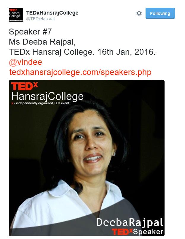 Deeba Rajpal TEDx