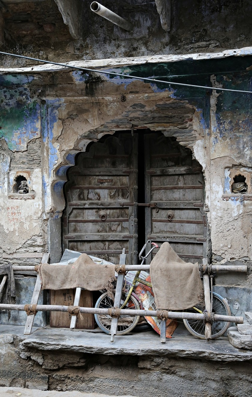 Definitely no entry. Door, Raipur village