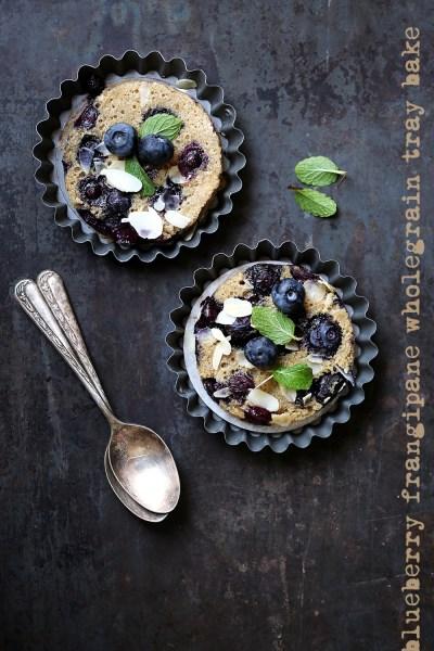 Baking | Blueberry Frangipane Wholegrain Tray Bake, the galette that became a tray bake! #makehalfyourgrainswhole