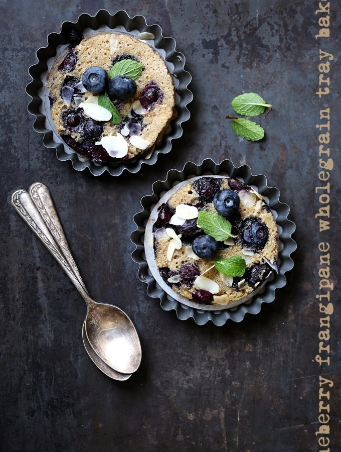Baking | Blueberry Frangipane Wholegrain Tray Bake, the galette that became a tray bake! #makehalfyourgrainswhole