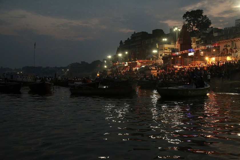 Dashashwamedh Ghat arti, Ghats, Banaras 2016