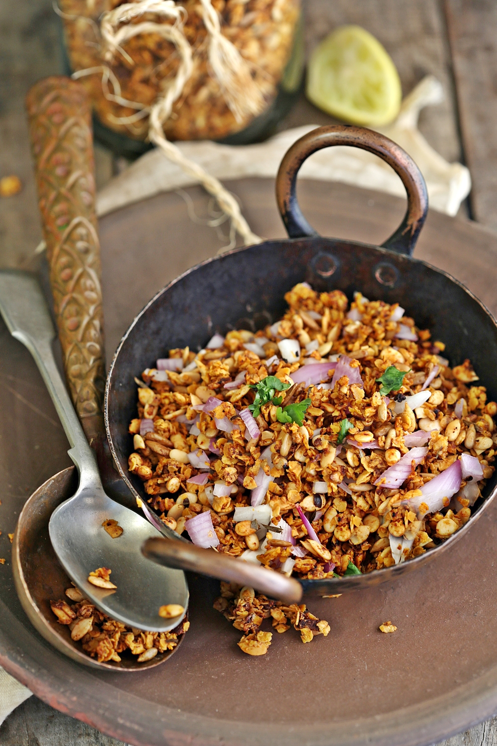 Savoury Granola - delicious,addictive,crisp & crunchy good!