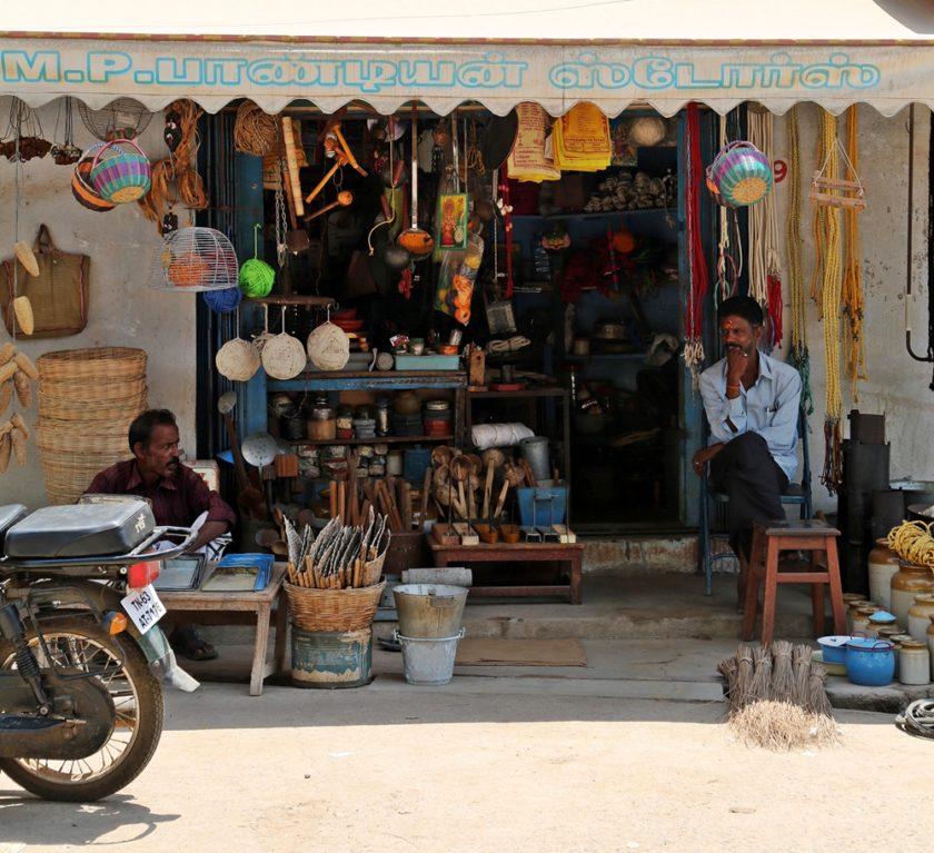 Shopping in Karaikudi, Chettinad, South India