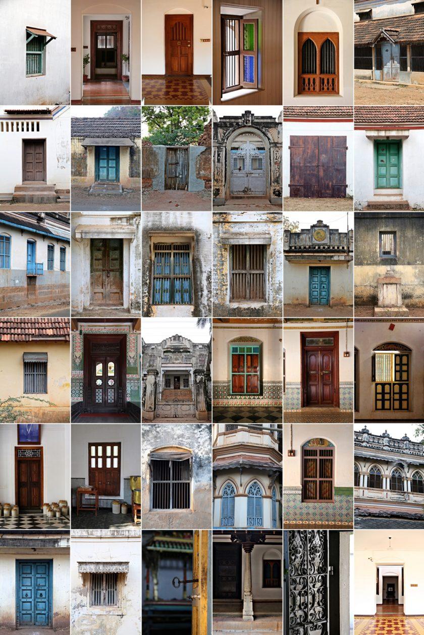 Doors and windows of Karaikudi, Chettinad, South India