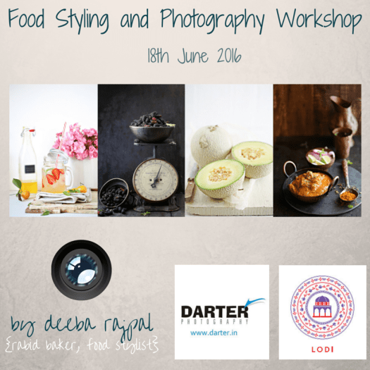 Food Styling and Photography Workshop Delhi
