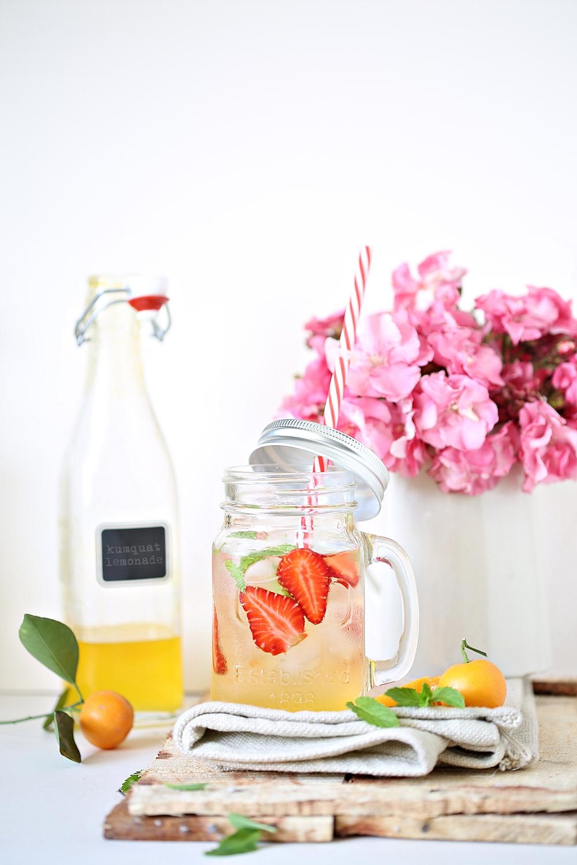 Kumquat lemonade