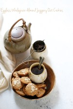 Eggless-Wholegrain-Almond-Jaggery-Oat-Cookies-1-1000 Baking   Eggless Wholegrain Almond Jaggery Oat Cookies #comfortfood #anzacs