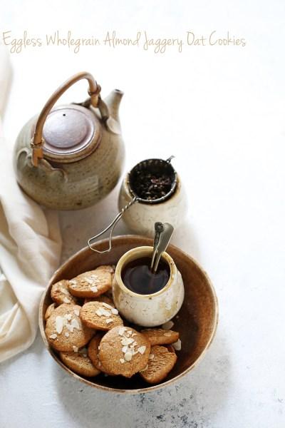 Baking   Eggless Wholegrain Almond Jaggery Oat Cookies #comfortfood #anzacs