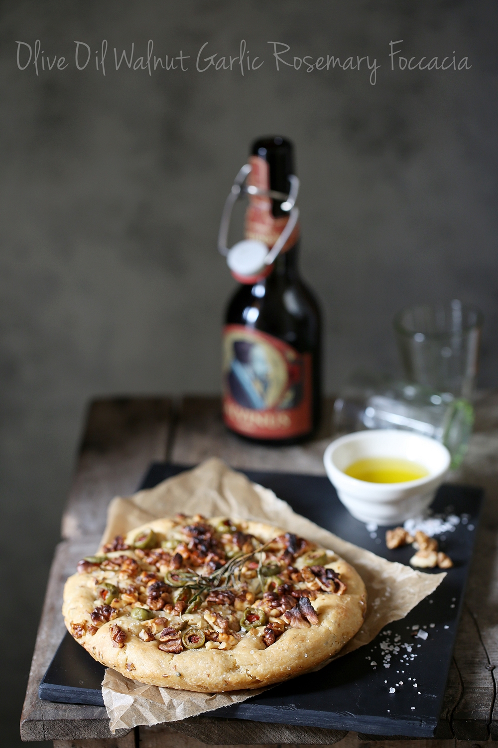 Olive Oil Walnut Garlic Rosemary Foccacia
