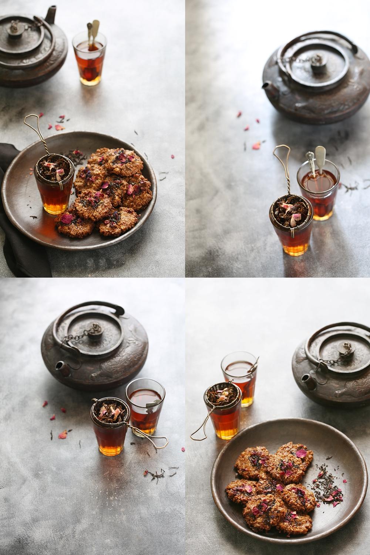 Tea Rose Eggless Cookies