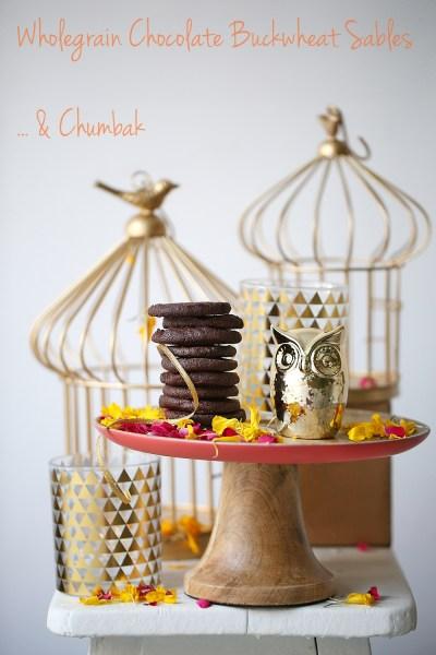 Baking | Wholegrain Chocolate Buckwheat Sablés & Chumbak #Diwaligifting #makehappy