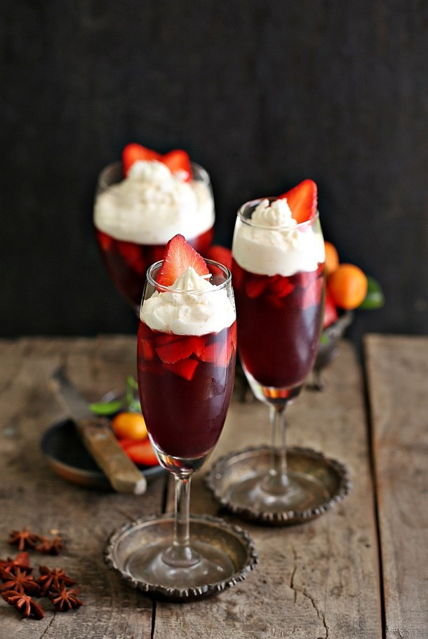 red-wine-jelly-1000-2 No bake | Strawberry Red Wine Jelly with orange whipped cream...have a great new year