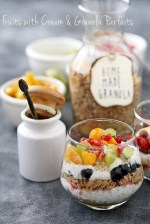 Fruit-Cream-Granola-Parfaits-3-1000 Baking | Fruits with Cream & Granola Parfaits ... dessert for breakfast with cream, fruit & homemade granola