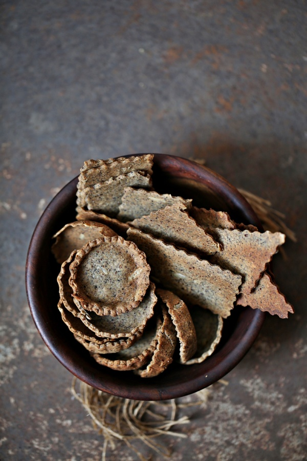 Seedy-Buckwheat-Crackers Baking | Crudites with Creamy Garlic Dip and Seedy Buckwheat Crackers  ... our all time favourite