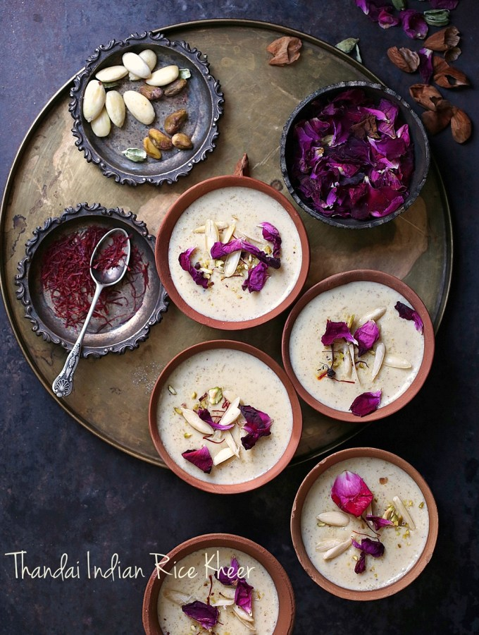 Food Talk | Thandai Indian Rice Kheer … Holi time of the year