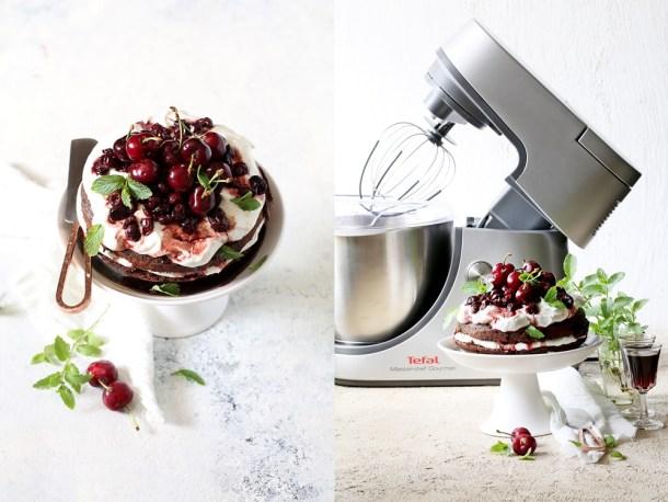 Dark-chocolate-quinoa-cake-16 Dark Chocolate Quinoa Cake with Balsamic Cherries & Whipped Almond Cream #TefalIndia #GetTheBestOutOfEveryday