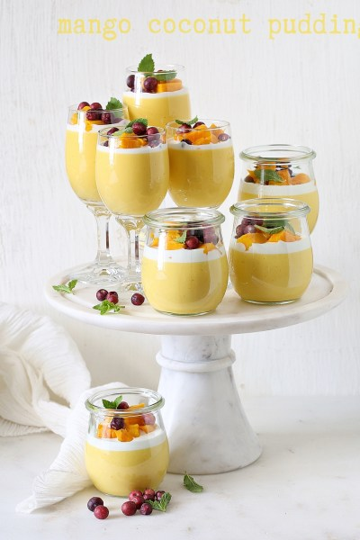 Mango Coconut Pudding … a celebration of Alphonsos #dessert #nobake #mango