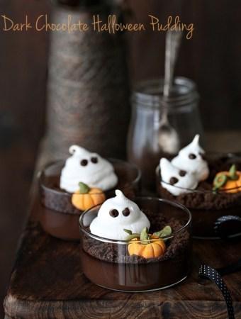 Dark Chocolate Halloween Pudding