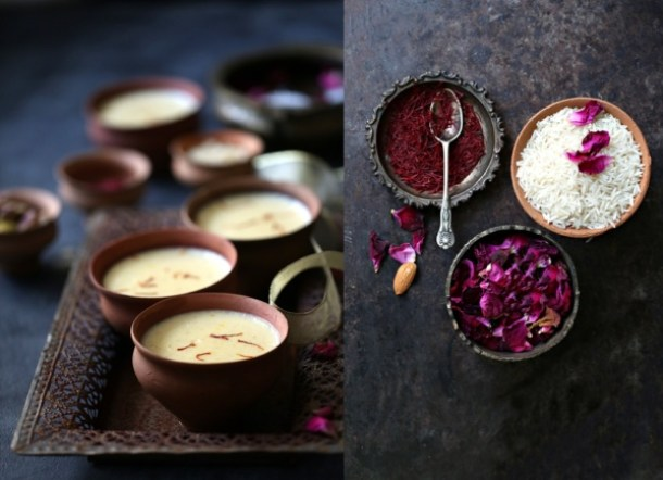 Zafrani-Phirini-or-Saffron-Almond-Indian-Rice-Pudding Zafrani Phirini | Saffron Almond Indian Rice Pudding