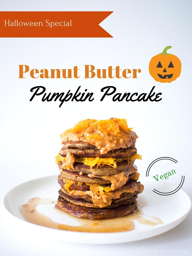 Peanut Butter Pumpkin Pancakes