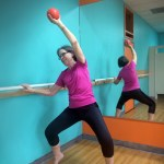 Passion Barre Pose: Ball and Plié in Second with a side bend