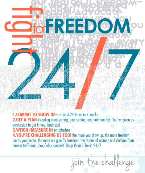 Passion Barre Freedom 24/7 Challenge Poster