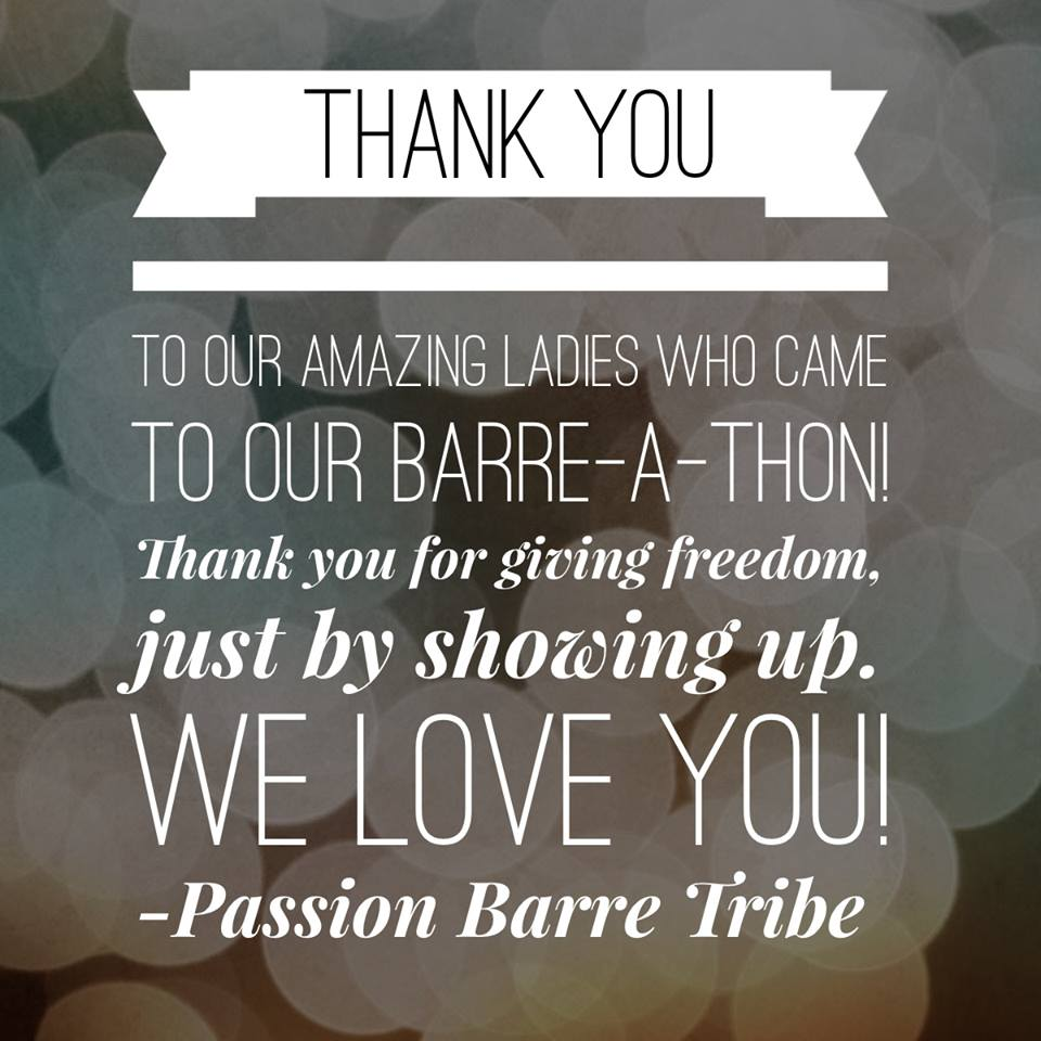 Barre-a-thon thank you pictogram